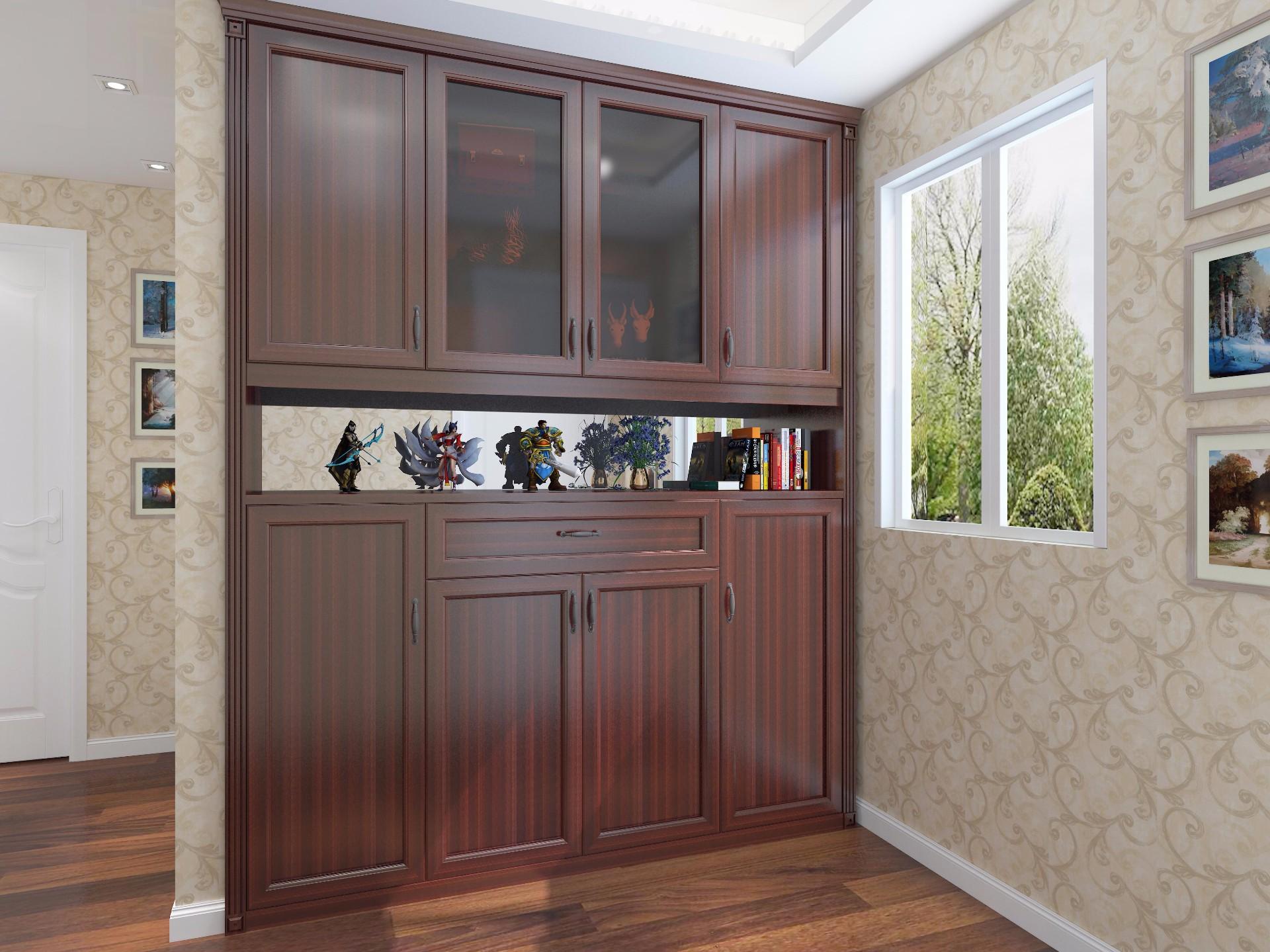 玄关柜—红胡桃
