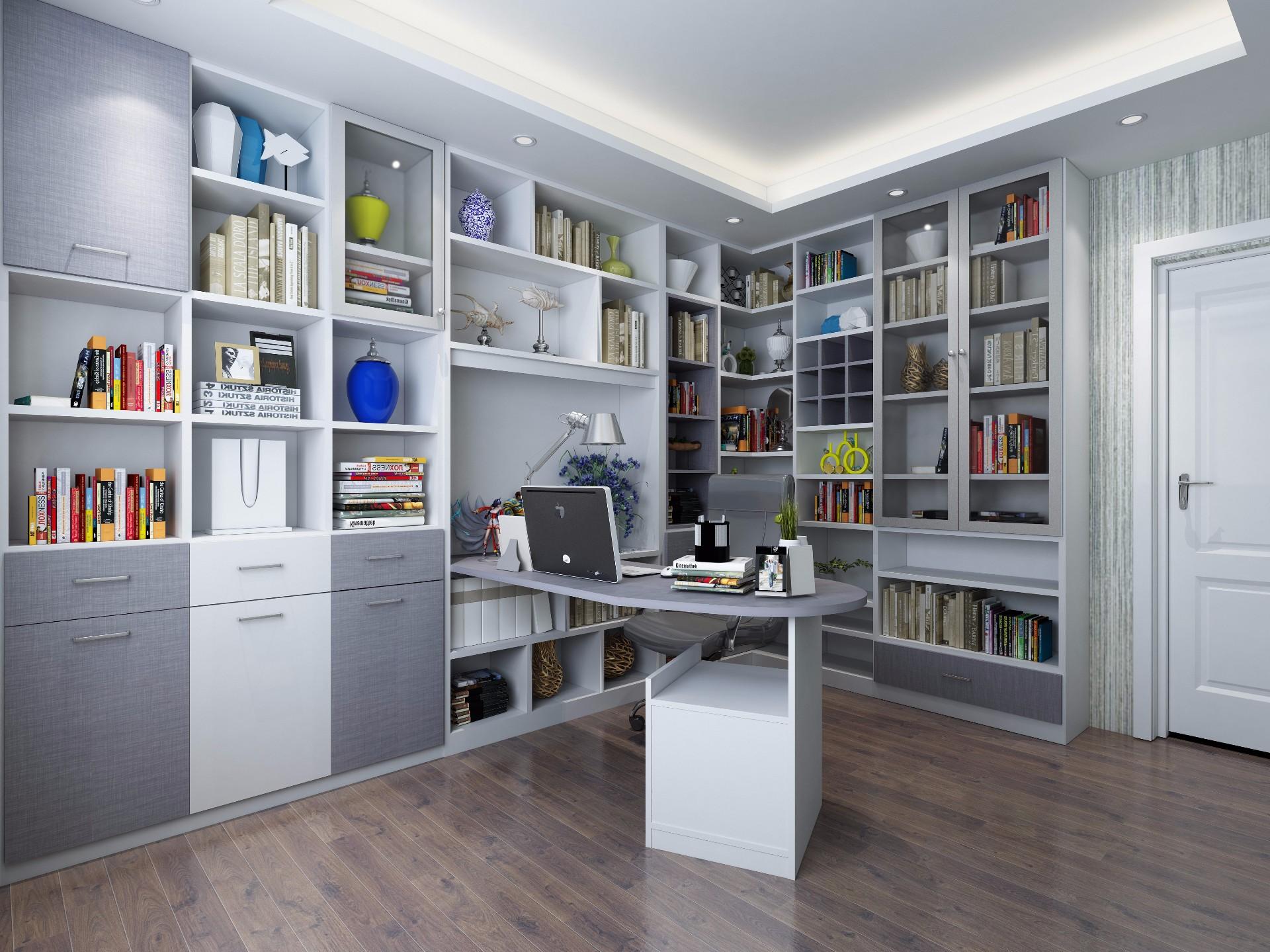 书柜—灰布纹