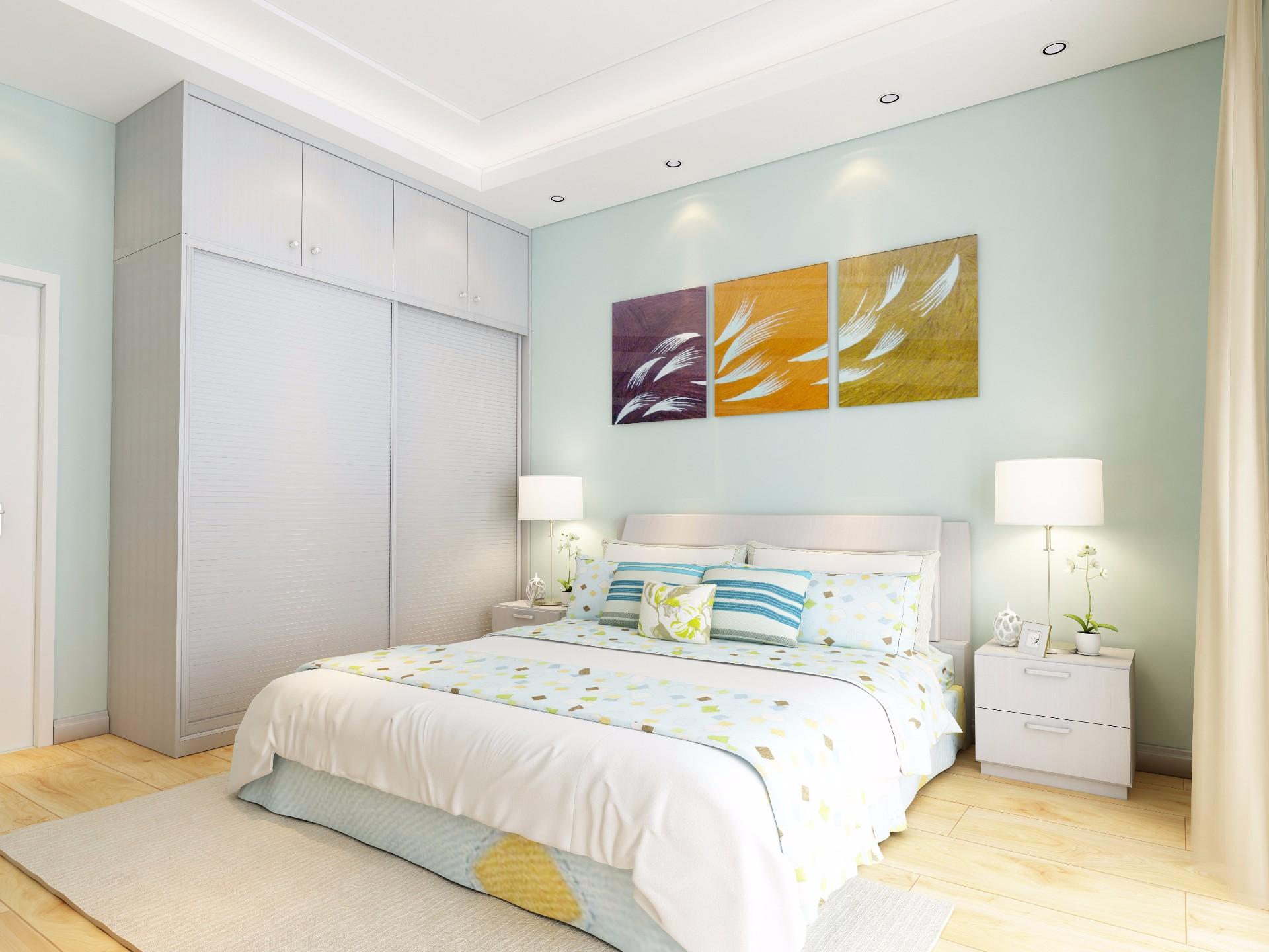 床+床头柜—暖白